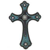 Western Wall Cross, Turquoise Resin, 8 x 5 inches