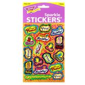 TREND enterprises, Inc., Prayer Sparkle Stickers, Multi-Colored, Pack of 34