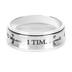 Spirit & Truth, 1 Timothy 6:11, Man of God, Men's Spinner Ring, Stainless Steel, Silver, Size 10