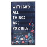 Renewing Faith, With God All Things Are Possible 2021-2023 Pocket Planner, 3 1/2 x 6 1/2 inches
