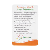 Blue Mountain Arts, Remember What Is Most Important Wallet Card, 2 x 3 1/4 inches