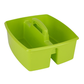 Storex, Large Caddy, Lime Green, 2 Compartments, Plastic, 13 x 11 x 6.38 Inches, 1 Piece