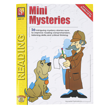 Remedia Publications, Mini Mysteries Workbook, Reproducible Paperback, 54 Pages, Grades 2-6