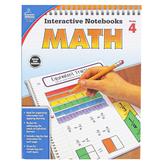 Carson-Dellosa, Interactive Notebooks Math Resource Book, Reproducible Paperback, 96 Pages, Grade 4