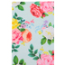 Printed Mint Rose Floral Felt Rectangle, Pastels and White on Mint, 9 x 12 Inches, 1 Piece