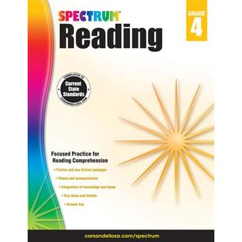 Carson-Dellosa, Spectrum Reading Workbook Grade 4, Paperback, 174 Pages, Ages 9-10