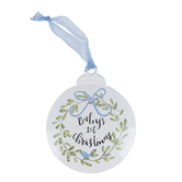 Brownlow Gifts, Babys 1st Christmas Ornament, Metal, Blue, 4 1/4 inches
