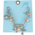 Bella Grace, Cross and Pearl Charm Bracelet, Zinc Alloy & Iron, Silver & Gold