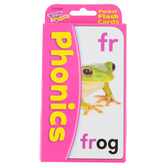 TREND enterprises, Inc., Phonics Pocket Flash Cards, 56 Cards, 3 1/8 x 5 1/4 inches, Ages 5-8