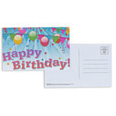 Broadman Church Supplies, Happy Birthday Balloons Postcards, 5 1/2 x 3 1/2 inches, Set of 25