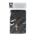 Swanson, Cross Hand Towel, Cotton, Black & Gold, 10 x 15 inches