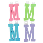 Glitter Foam Alphabet Letter Upper Case - M, 4 x 5.5 x .50 Inches, 1 Each, Assorted Colors