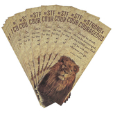 Salt & Light, Joshua 1:9 Be Strong & Courageous Lion Bookmarks, 2 x 6 inches, 25 Bookmarks