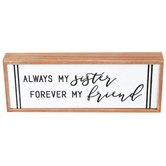 Always My Sister Forever My Friend Framed Plaque, MDF, 10 x 3 3/4 inches