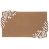 Rose Corkboard, Brown & White, 13 5/8 x 23 1/4 x 3/4 Inches