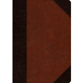 ESV Large Print Wide Margin Bible, TruTone, Brown and Cordovan, Portfolio Design