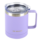 Christian Art Gifts, Be Brave Camp Mug, Stainless Steel, Lavender, 12 ounces