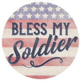 Carson Home Accents, Bless My Soldier Car Coaster, Absorbent Stoneware, 2 3/4 inches
