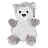 Aurora, Palm Pals, Busky the Husky Stuffed Animal, 5 inches
