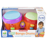 The Learning Journey, Little Baby Bongo Drums, 5 1/2 x 10 inches, Ages 12 Months & Older