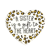 P. Graham Dunn, A Sister Is A Gift To The Heart Magnet, Acrylic, 2 3/4 x 2 3/4 x 1/4 inches