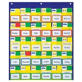 """Carson-Dellosa, Classroom Management Blue and Yellow Pocket Chart, 20"""" x 24"""", 163 Pieces,"""