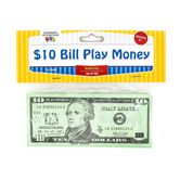 Learning Advantage, Ten Dollar Bill Play Money, 6 1/4 x 2 1/2 inches, Set of 100