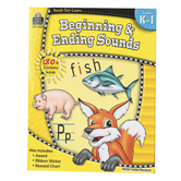 Ready-Set-Learn Activity Book: Beginning and Ending Sounds, 64 Pages, Grades K-1