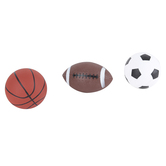 Franklin Sports, Micro Sport Ball Set, 5 inches each, Rainbow Design, 3 Balls