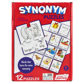 Junior Learning, Synonym Puzzles, 12 Puzzles, 48 Pieces, Ages 5 Years and Older