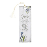 Dexsa, Sisters In Heart Tasseled Bookmark, Paper, Distressed White, 2 x 6 inches