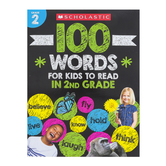 Scholastic, 100 Words for Kids to Read in Second Grade Activity Book, 64 Pages, Grade 2