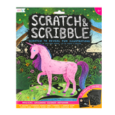 Ooly, Scratch & Scribble, Magical Unicorns, 5 3/4 x 8 1/4 Inches, 19 Pieces