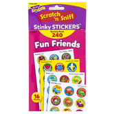 TREND enterprises, Inc., Fun Friends Scratch 'n Sniff Stinky Stickers® Variety Pack, 240 Stickers
