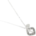 Bella Grace, Love Is For Giving with Cross and Heart Necklace, Zinc Alloy, Silver-tone, 18 inch Chain