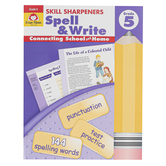 Evan-Moor, Skill Sharpeners Spell & Write Activity Book, Paperback, 144 Pages, Grade 5