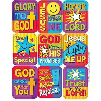 Eureka, Inspirational Sayings Giant Stickers, 1.25 x 1.75 Inches, Multi-Colored, Pack of 36