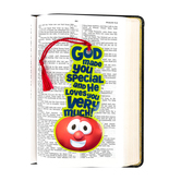 VeggieTales, God Made You Special Tassel Bookmark, 2 1/2 x 10 inches