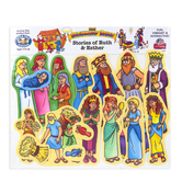 Little Folk Visuals, Stories of Ruth and Esther Pre-cut Figures, 19 Pieces