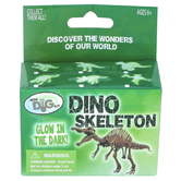GeoCentral, Glow-In-The-Dark Dino Skeleton Mini Excavation Kit, Ages 6 Years and Older, 3 Pieces