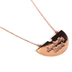 By His Grace, Abundantly Blessed Mosaic Necklace, Zinc Alloy and Brass, Rose Gold, 30 Inch Chain
