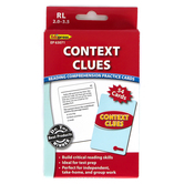 Edupress, Context Clues Reading Comprehension Practice Cards-Red Level, 54 Cards, Reading Level 2.0-3.5