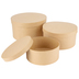 Paper Mache Round Box, Set of 3 with Removable Lids, Small 7, 8, and 9.5 x 5-Inches