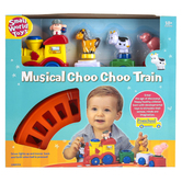 Small World Toys, Musical Choo Choo Train, 13 Pieces, Ages 18 Months & Older