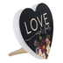 P. Graham Dunn, Love Never Fails Heart Shaped Plaque, Wood, 5 1/2 x 6 inches