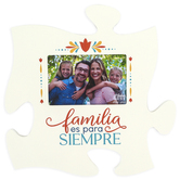 P. Graham Dunn, Family Is Forever Spanish Puzzle Piece Wall Plaque, Wood, 12 x 12 x 1/2 inches