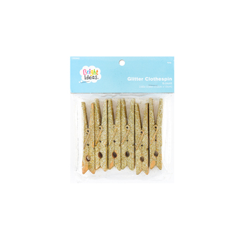 Bright Ideas, Glitter Clothespin Clips, Wood, Multiple Colors Available, 3 inches, 6 count