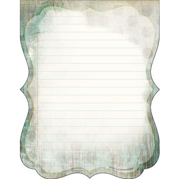 Retro Chic Collection, Gray Wood and Turquoise Shaped Notepad, 6.25 x 8 Inches, Turquoise and Gray, 50 Sheets