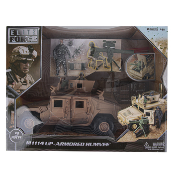Sunny Days, Elite Force Humvee Vehicle Play Set, 6 Pieces, Ages 4 to 15