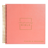 DaySpring, Illustrating Bible-Books of Psalms and Proverbs, Faux Leather Cover, Coral, 9 1/4 x 9 1/4 x 3/4 inches, 202 Pages